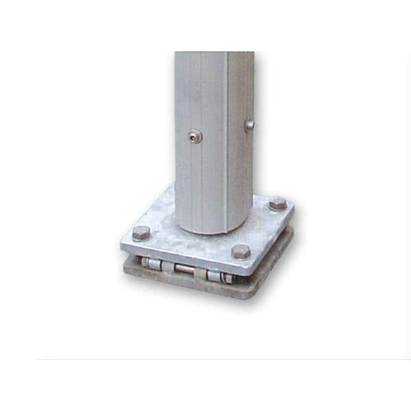 Fahnenmasten-Detail-Kippmechanismus