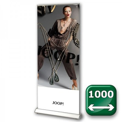 Bannerdisplay Roll-Up - DESIGN Bannermaß: 1.000x2.100mm Banner 1000x2100 mm - Roll-Up-DESIGN-1000 1