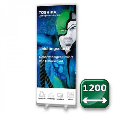 Bannerdisplay Roll-Up - ECO Bannermaß: 1.200x2.100mm Banner 1200x2100 mm - Roll-Up-ECO-NEU-1200 1