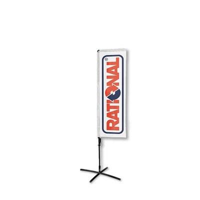 Beachflag - SQUARE - Größe M inkl. Tragetasche & Kreuzfuss Größe M (Höhe 2,40 mtr) - Beachflag-Square-1550-Kreuzfuss