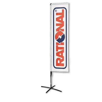 Beachflag - SQUARE - Größe XL inkl. Tragetasche & Kreuzfuss Größe XL (Höhe 4,60 mtr) - Beachflag-Square-3750-Kreuzfuss