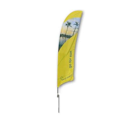 Beachflag - STANDARD - Größe L inkl. Tragetasche & Erddorn Größe L (Höhe 4,10 mtr) - Beachflag-Standard-4100-Erdspiess-Rotator