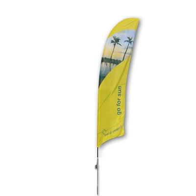 Beachflag - STANDARD - Größe L inkl. Tragetasche & Erddorn Größe L (Höhe 4,10 mtr) - Beachflag-Standard-4100-Erdspiess