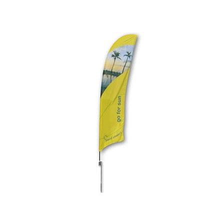 Beachflag - STANDARD - Größe M inkl. Tragetasche & Erddorn Größe M (Höhe 3,10 mtr) - Beachflag-Standard-3100-Erdspiess-Rotator