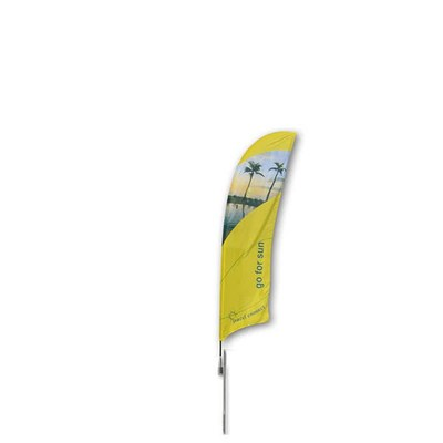 Beachflag - STANDARD - Größe S inkl. Tragetasche & Erddorn Größe S (Höhe 2,50 mtr) - Beachflag-Standard-2500-Erdspiess Rotator