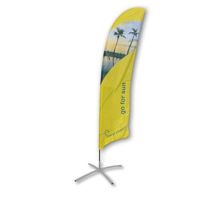 Beachflag - STANDARD - Größe XL inkl. Tragetasche & Kreuzfuss Größe XL (Höhe 5,20 mtr) - Beachflag-Standard-5200-Kreuzfuss