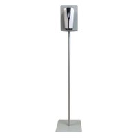 Hand disinfectant dispenser display with infrared dispenser (contactless) Steel base plate 320x320mm and mounting plate - desinfektionsspender_display_frontal