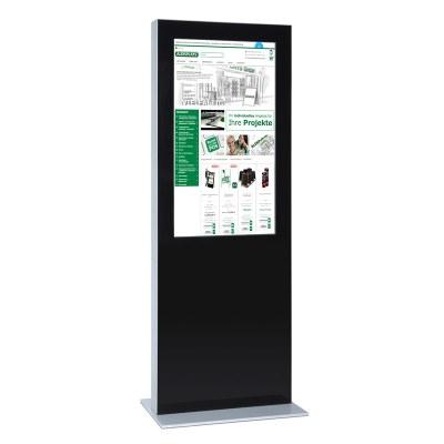 Digitale Info-Stele doppelseitig für den Inneneinsatz - Größe: 43 Zoll Farbe: schwarz - Digitale Infostele doppelseitig 49 Zoll schwarz