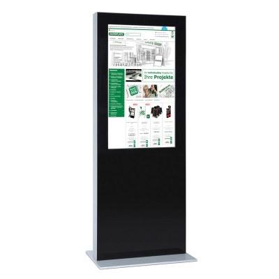 Digitale Info-Stele doppelseitig für den Inneneinsatz - Größe: 65 Zoll Farbe: schwarz - Digitale Infostele doppelseitig 55 Zoll schwarz