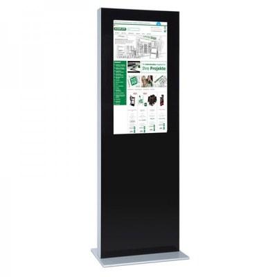 Digitale Info-Stele einseitig für den Inneneinsatz - Größe: 32 Zoll Farbe: schwarz - digitale infostele einseitig 32 zoll schwarz