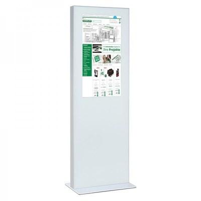 Digitale Info-Stele einseitig für den Inneneinsatz - Größe: 32 Zoll Farbe: weiss - digitale infostele einseitig 32 zoll weiss