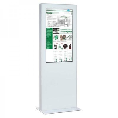 Digitale Info-Stele einseitig für den Inneneinsatz - Größe: 49 Zoll Farbe: weiss - digitale infostele einseitig 49 zoll wei  1
