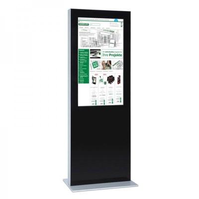 Digitale Info-Stele einseitig für den Inneneinsatz - Größe: 55 Zoll Farbe: schwarz - digitale infostele einseitig 55 zoll schwarz 1