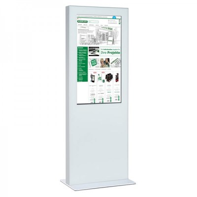 Digitale Info-Stele einseitig für den Inneneinsatz - Größe: 55 Zoll Farbe: weiss - digitale infostele einseitig 55 zoll wei  1