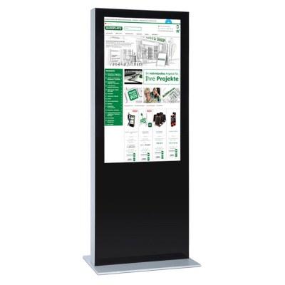 Digitale Info-Stele einseitig für den Inneneinsatz - Größe: 75 Zoll Farbe: schwarz - Digitale Infostele einseitig 75 Zoll schwarz