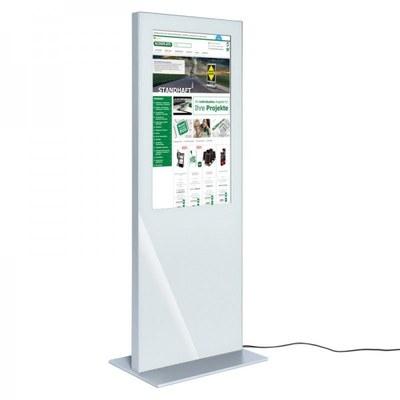 Digitale Info-Stele SLIM Bautiefe ca. 72 mm - einseitig 43 Zoll - digitale infostele slim einseitig 43 zoll weiss 1