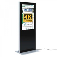 Digital signage Digital information pillar SLIM for indoor use - size: 49 inch colour: black - Digitale Infostele Slim einseitig 49 zoll schwarz 4K