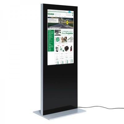 Digitale Info-Stele SLIM Bautiefe ca. 72 mm - einseitig 49 Zoll - digitale infostele slim einseitig 49 zoll schwarz 2