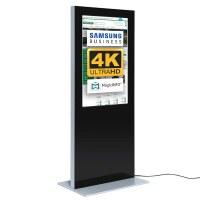 Digital signage Digital information pillar SLIM for indoor use - size: 55 inch colour: black - Digitale Infostele Slim einseitig 55 zoll schwarz 4K