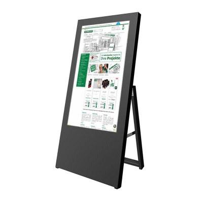 Digitaler Kundenstopper für den Inneneinsatz - Größe: 32 Zoll Ausführung: schwarz - einseitig - Digitaler Kundenstopper 32 Zoll schwarz2