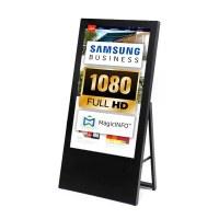 Digital Signage Digital customer stopper for indoor use - size: 43 inch Finish: black - one-sided - digitaler-kundenstopper-43-zoll-schwarz