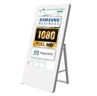 Digital Signage Digital customer stopper for indoor use - size: 43 inch finish: white - one-sided - digitaler-kundenstopper-43-zoll-weiss
