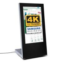 Digital Signage Digital Customer Stopper PREMIUM for indoor use - size: 43 inch Finish: black - one-sided - Digitaler Kundenstopper PREMIUM 4K