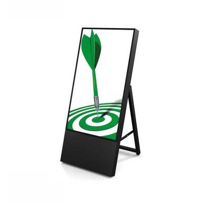 Digitaler Kundenstopper TrendLine für den Inneneinsatz - Größe: 32 Zoll Ausführung: schwarz - einseitig - Digitaler Kundenstopper 32 schwarz ohne Logo