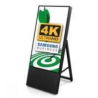 Digital Signage Digital Customer Stopper TrendLine for indoor use - size: 43 inch Finish: black - one-sided - Digitaler Kundenstopper TRENDLINE 43 4K swz