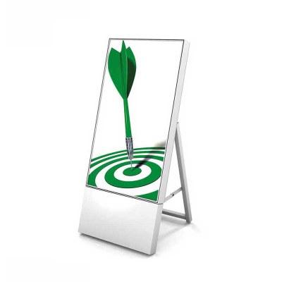 Digitaler Kundenstopper TrendLine für den Inneneinsatz - Größe: 32 Zoll Ausführung: weiss - einseitig - Digitaler Kundenstopper 32 weiss