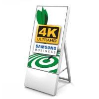 Digital Signage Digital Customer Stopper TrendLine for indoor use - size: 43 inch finish: white - one-sided - Digitaler Kundenstopper TRENDLINE 43 4K