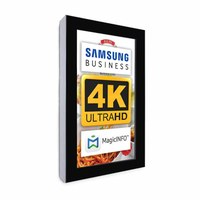 Digital Signage Digital information display - top form. one-sided 43 inch screen - black for wall mounting - Digitale Info Display Hochformat 43er 4K