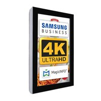 Digital Signage Digital information display - top form. single-sided 49 inch screen - black for wall mounting - Digitale Info Display Hochformat 49er 4K