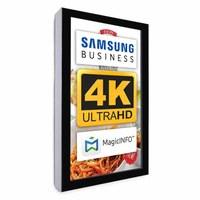 Digital Signage Digital information display - top form. one-sided 55 inch screen - black for wall mounting - Digitale Info Display Hochformat 55er 4K