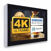Digital Signage Digitales Info-Display - Querform. one-sided 55 inch screen - black for wall mounting - Digitale Info Display Querformat 55er 4K