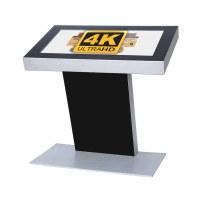 Digital Signage Digital Kiosk - landscape format single-sided 49 inch screen - black incl. Samsung LED display for 24/7 use - Digitales Kiosk 49 zoll 4K