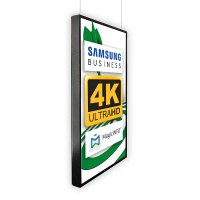 Digital Signage Digital Poster TrendLine one-sided 43 inch screen - black for ceiling mounting - incl. ceiling mounting set - Digitales Poster Decke swz 4K