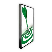 Digital Signage Digital Poster TrendLine one-sided 43 inch screen - black for ceiling mounting - incl. ceiling mounting set - digitales-poster-trendline-seite