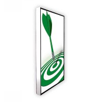 Digital Signage Digital Poster TrendLine one-sided 43 inch screen - white for wall mounting - incl. wall mounting set - digitales-poster-trendline-seite-ws