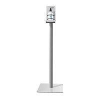 Hand disinfection stand ECO Total height 1,150 mm - Weight approx. 8.3 kg Square, silver base plate (330x330x3 mm) - Hand-Desinfektionsständer ECO Detail1
