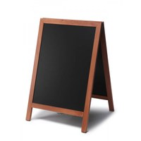 Wooden stand (closed frame) size: 55x85cm - profile: square colour of the wooden frame: light brown - Holz-Aufsteller-hellbraun