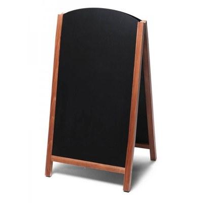 Holz-Aufsteller (oben offener Rahmen) Format: 68x120cm - Profil: eckig Farbe des Holzrahmens: hellbraun - Holz-Aufsteller-Fast-Switch-hellbraun-lang