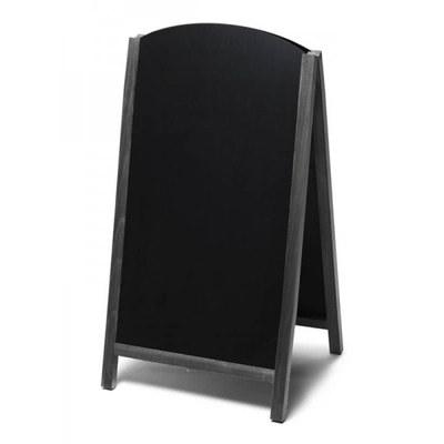 Holz-Aufsteller (oben offener Rahmen) Format: 68x120cm - Profil: eckig Farbe des Holzrahmens: schwarz - Holz-Aufsteller-Fast-Switch-schwarz-lang