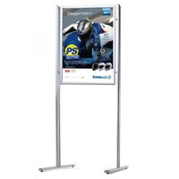 Information stand ELLIPSE Combi DIN A1, SINGLE SIDE - WITHOUT shelf incl. poster frame DIN A1, portrait format - Infost nder-Ellipse-Kombi-A1-ohne 1