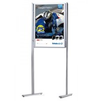 Information stand ELLIPSE Combi DIN A2, DOUBLE SIDE - WITHOUT shelf incl. poster frame DIN A2, portrait format - Infost nder-Ellipse-Kombi-DS-A1-ohne 1