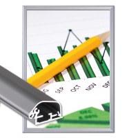 Snap frame Safety Insertion format: DIN A2 (420x594 mm) Profile: 32mm mitre - Klapprahmen-safety-32-mm-Profil
