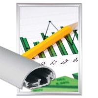 Snap frame Safety Insert format: DIN A4 (210x297 mm) Profile: 30mm mitre - Klapprahmen-safety-30-mm-Profil