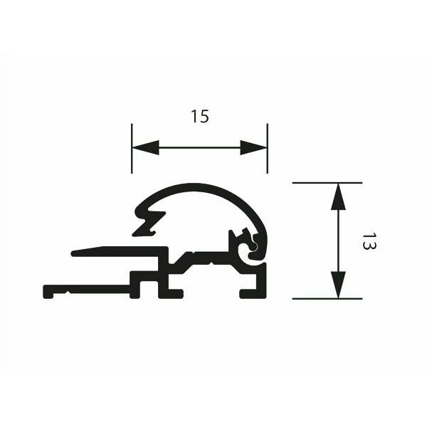 klapprahmen 15erprofil detail zeichnung 4