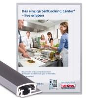 Snap frame Standard Insert format: DIN A4 (210x297 mm) Profile: 20mm mitre - Klapprahmen-20-mm-Profil-Gehrung