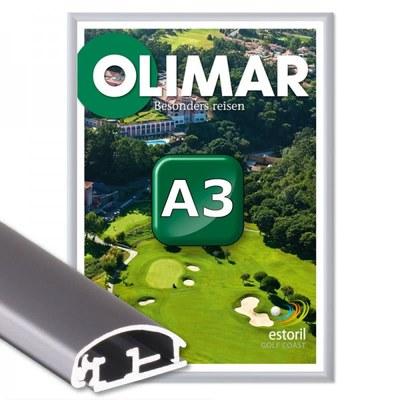 Klapprahmen Standard Einlegeformat: DIN A3 (297x420 mm) DIN A3 (297x420 mm) - Klapprahmen A3 25mm Gehrung
